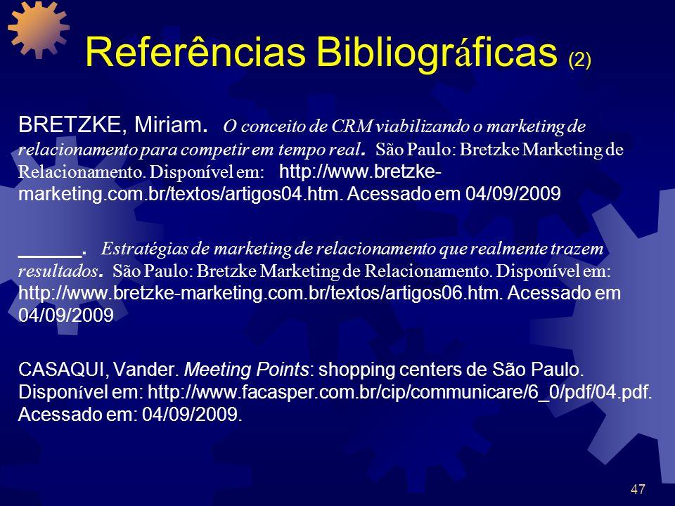 Referências Bibliográficas (2)