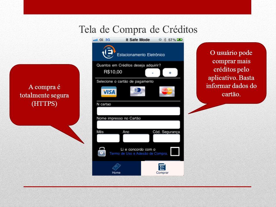 Tela de Compra de Créditos