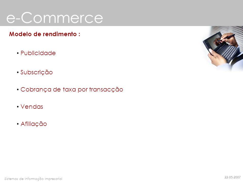 e-Commerce Modelo de rendimento : Publicidade Subscrição