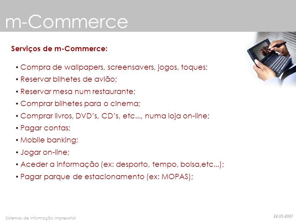 m-Commerce Serviços de m-Commerce:
