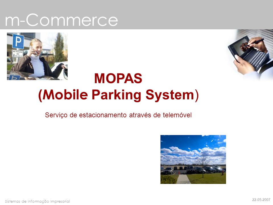 m-Commerce MOPAS (Mobile Parking System)