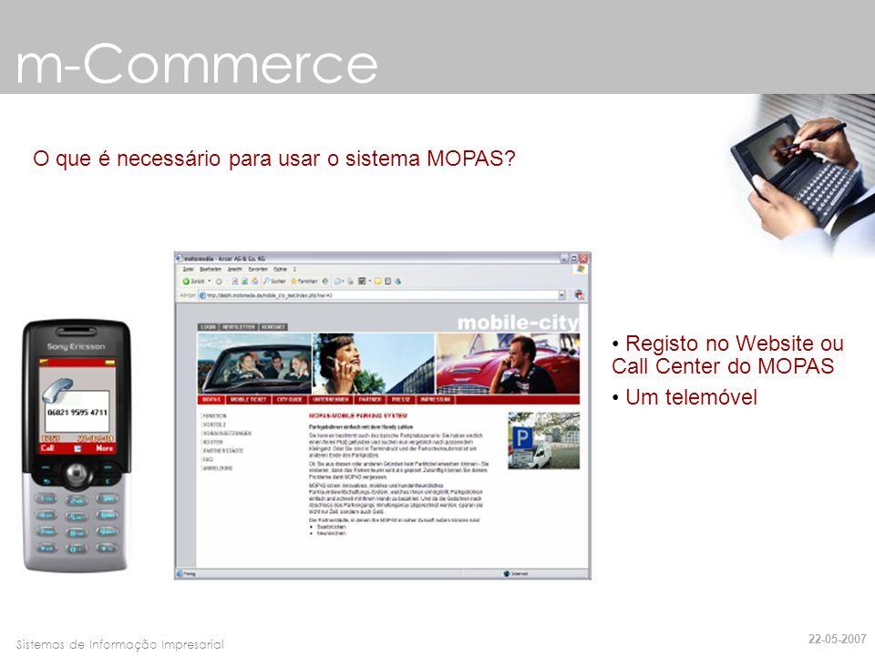 m-Commerce O que é necessário para usar o sistema MOPAS