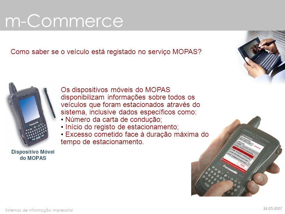 m-Commerce Como saber se o veículo está registado no serviço MOPAS