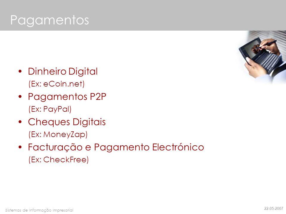 Pagamentos Dinheiro Digital Pagamentos P2P Cheques Digitais