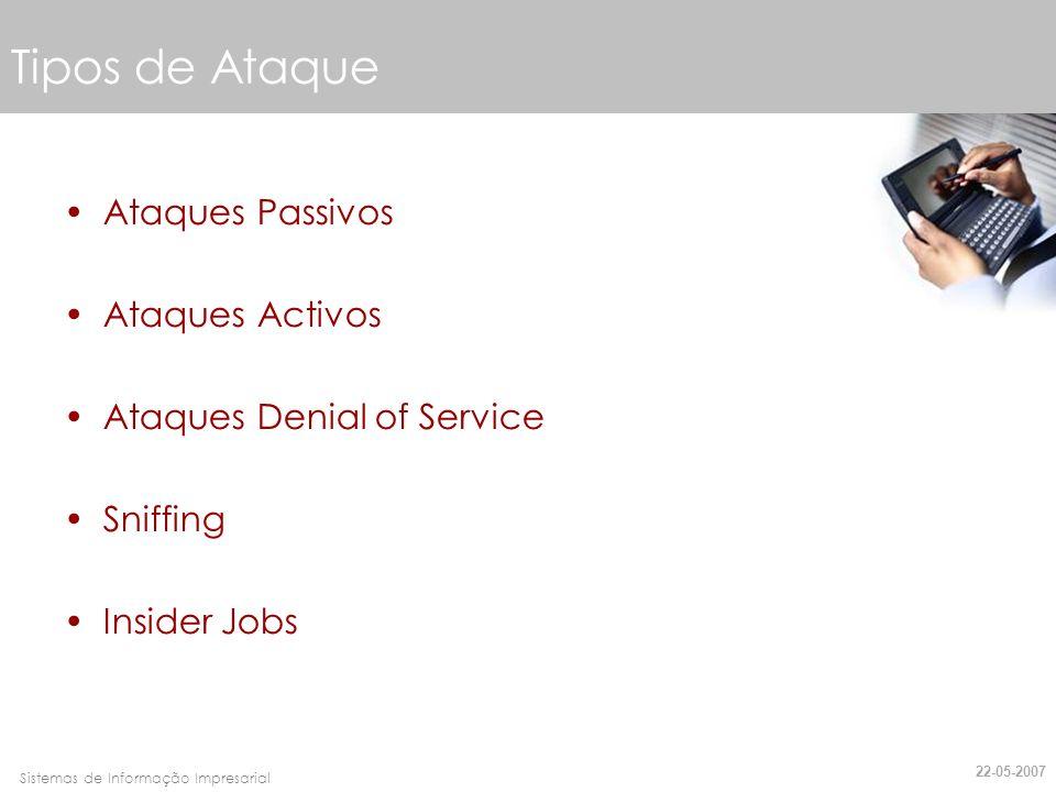 Tipos de Ataque Ataques Passivos Ataques Activos