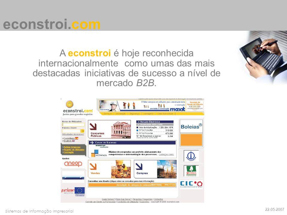 econstroi.com A econstroi é hoje reconhecida internacionalmente como umas das mais destacadas iniciativas de sucesso a nível de mercado B2B.