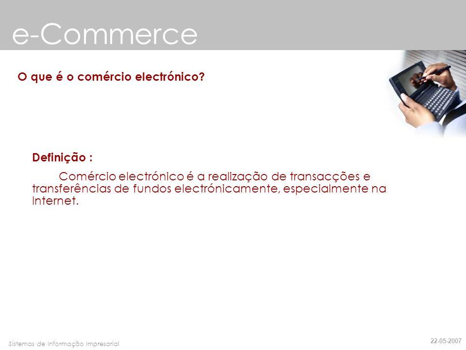 e-Commerce O que é o comércio electrónico Definição :