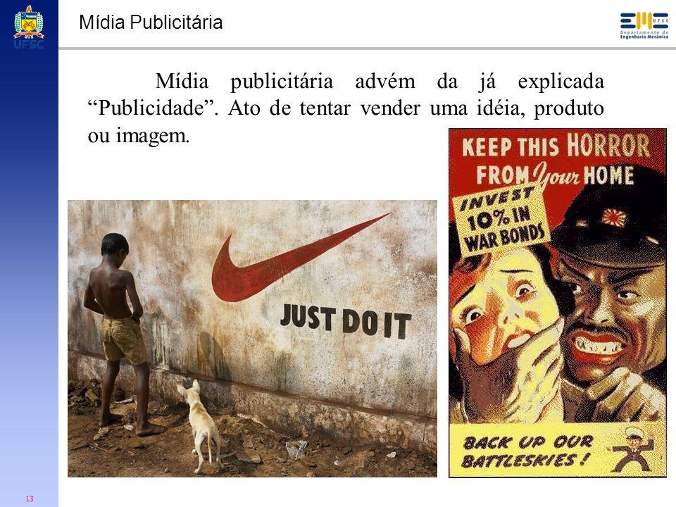 Mídia Publicitária Mídia publicitária advém da já explicada Publicidade .