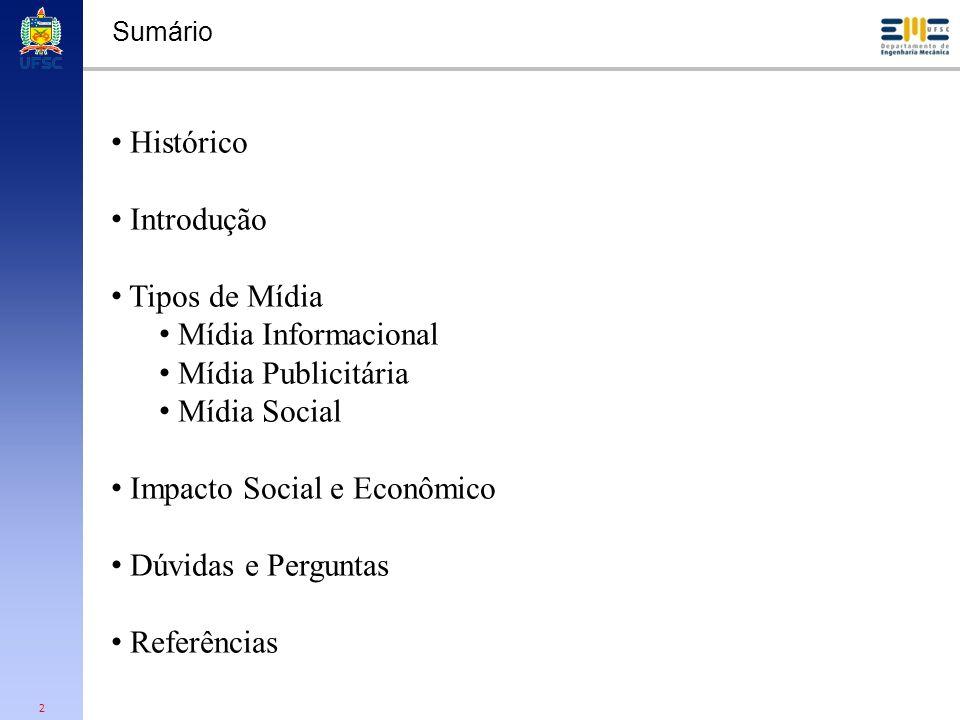 Impacto Social e Econômico Dúvidas e Perguntas Referências