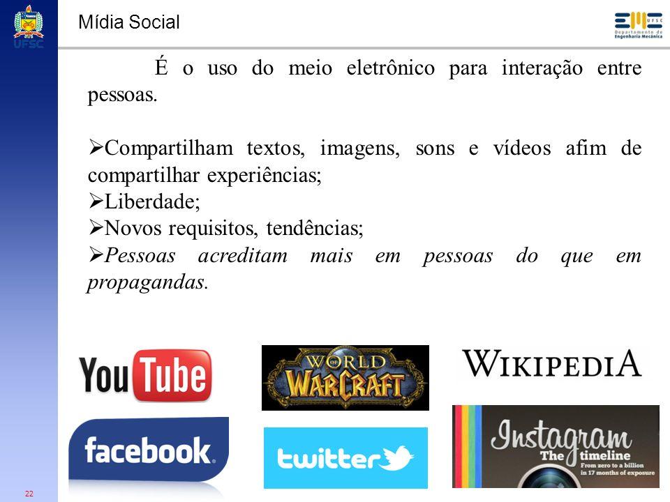 É o uso do meio eletrônico para interação entre pessoas.