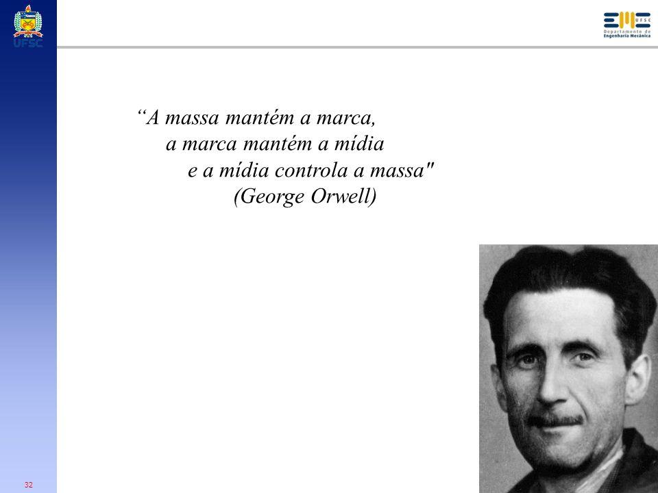 A massa mantém a marca, a marca mantém a mídia e a mídia controla a massa (George Orwell)