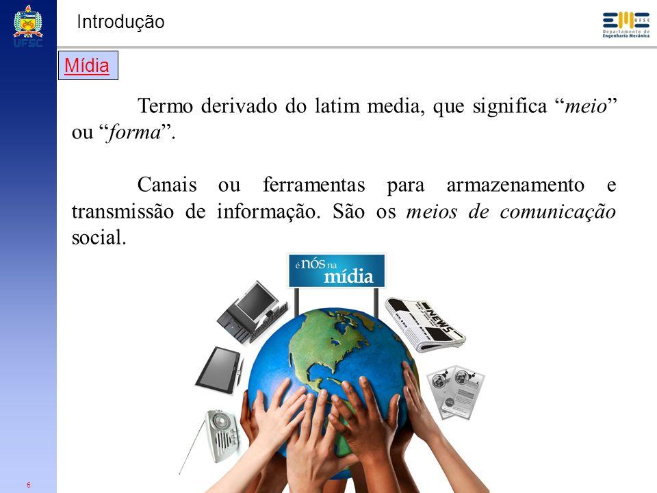 Termo derivado do latim media, que significa meio ou forma .