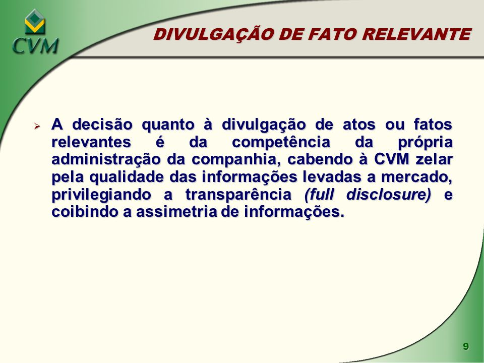 DIVULGAÇÃO DE FATO RELEVANTE