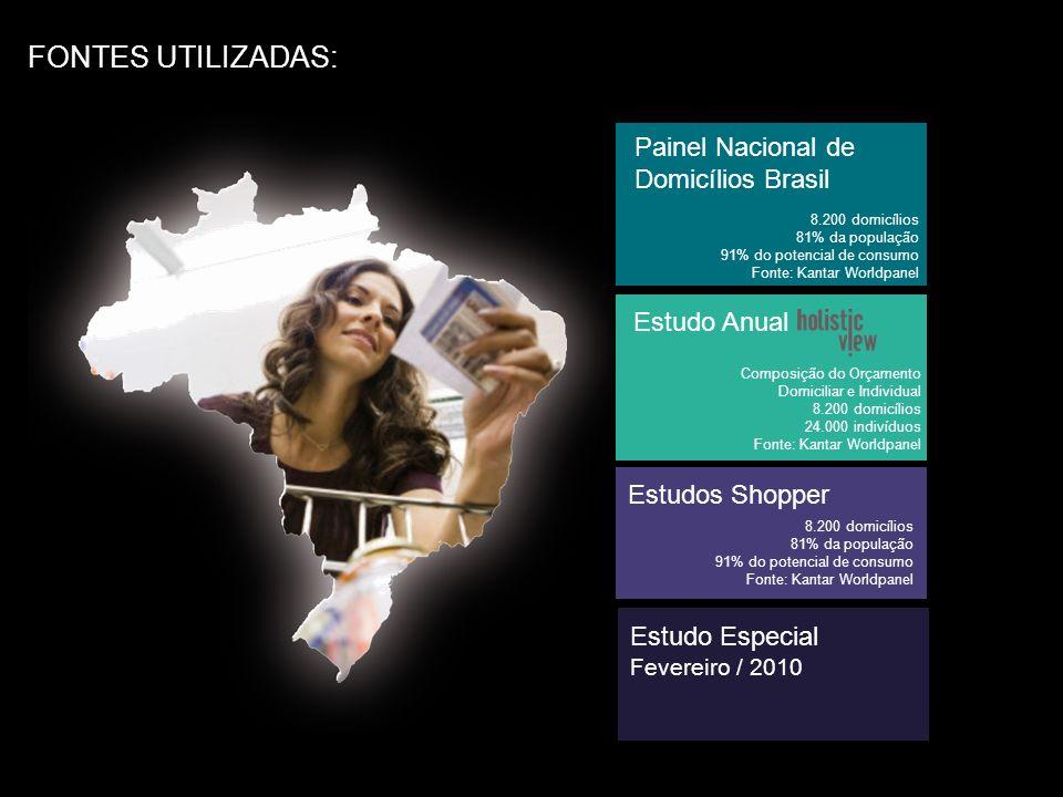 FONTES UTILIZADAS: Painel Nacional de Domicílios Brasil Estudo Anual