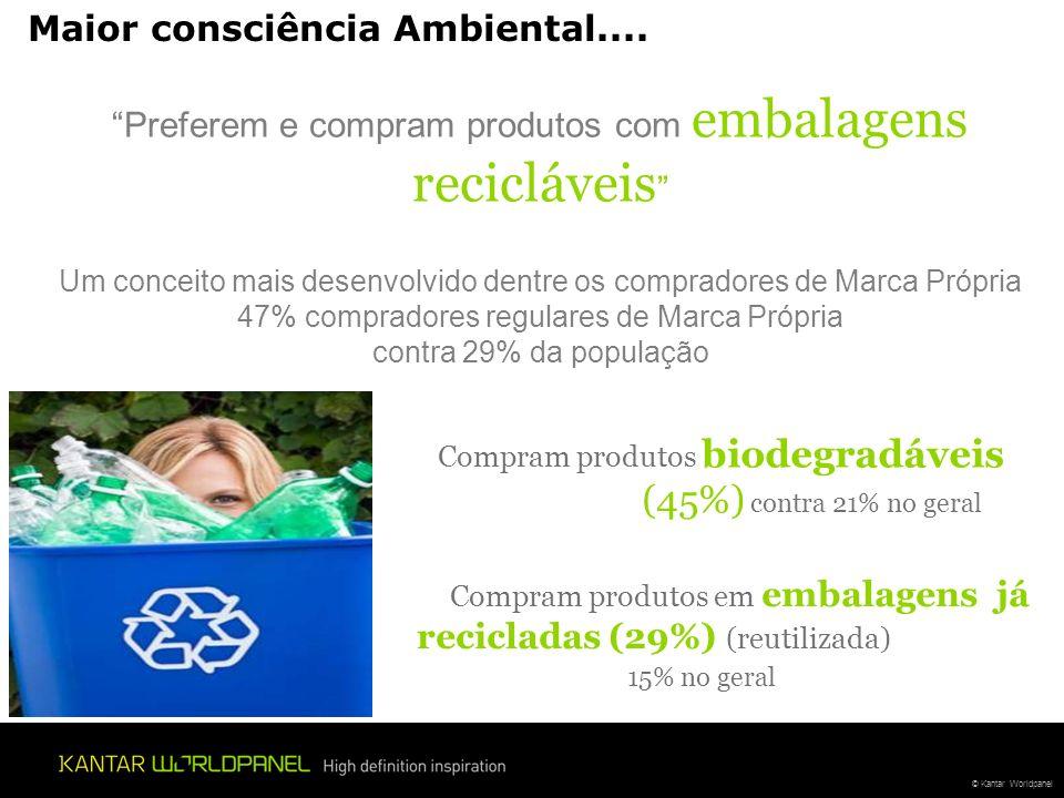 Maior consciência Ambiental....