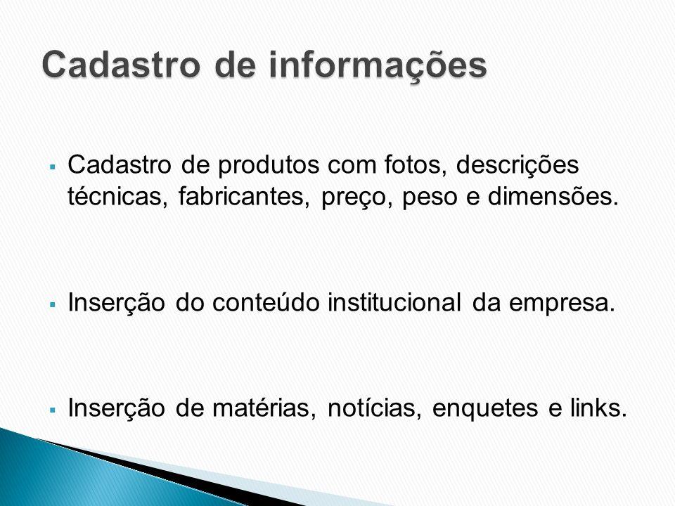 Cadastro de informações