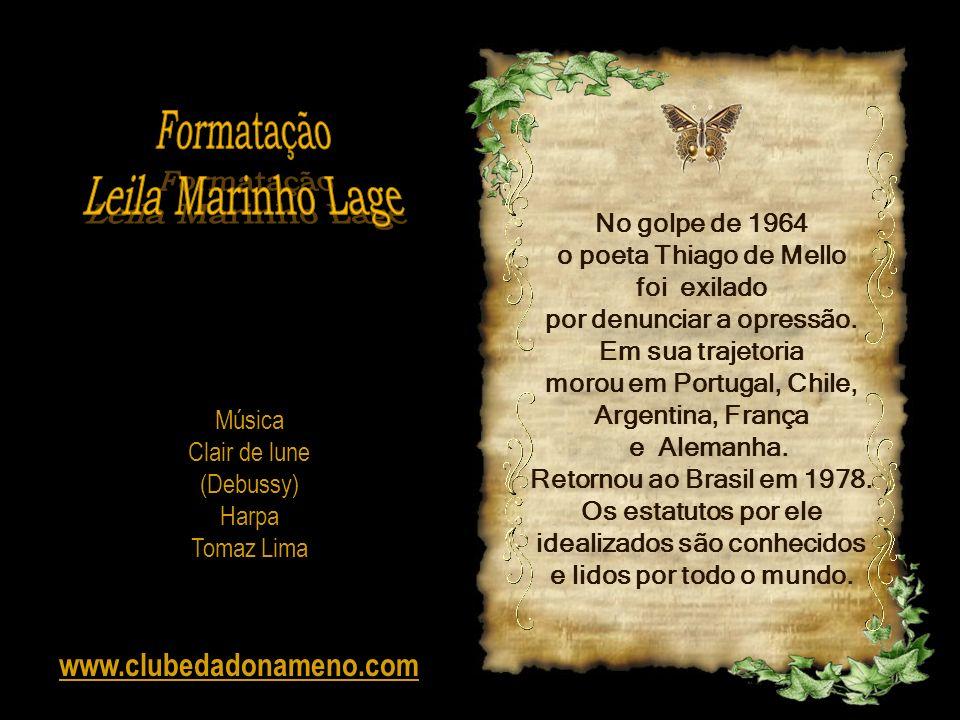 Formatação Leila Marinho Lage www.clubedadonameno.com No golpe de 1964