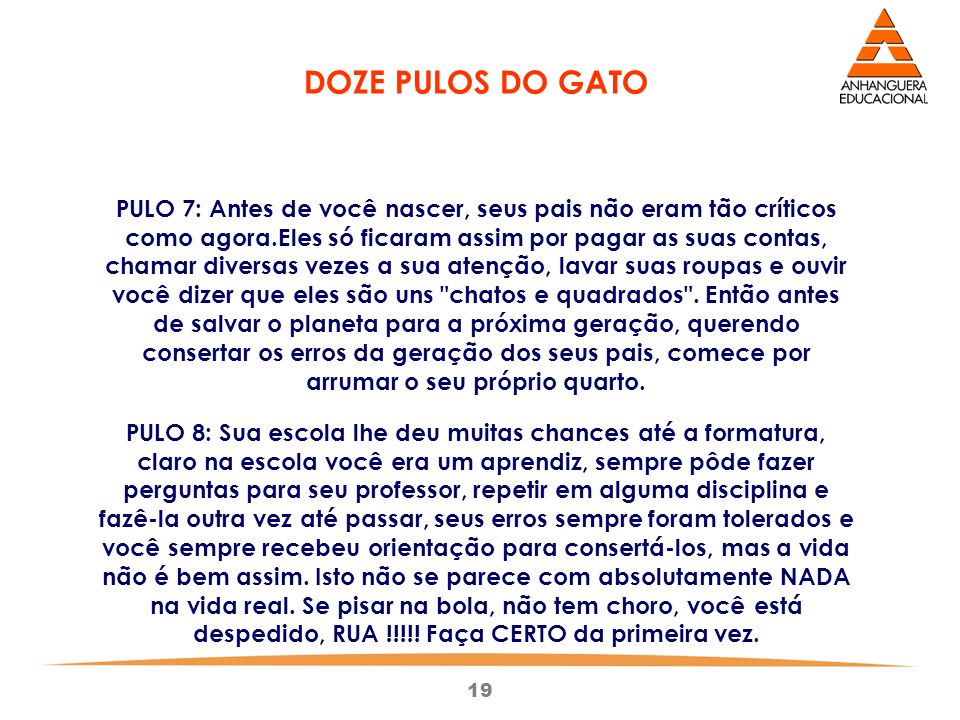 DOZE PULOS DO GATO