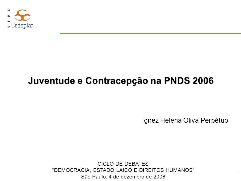 Juventude e Contracepção na PNDS 2006