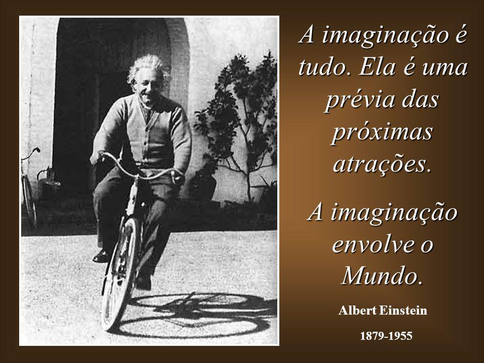 A imaginação é tudo. Ela é uma prévia das próximas atrações.