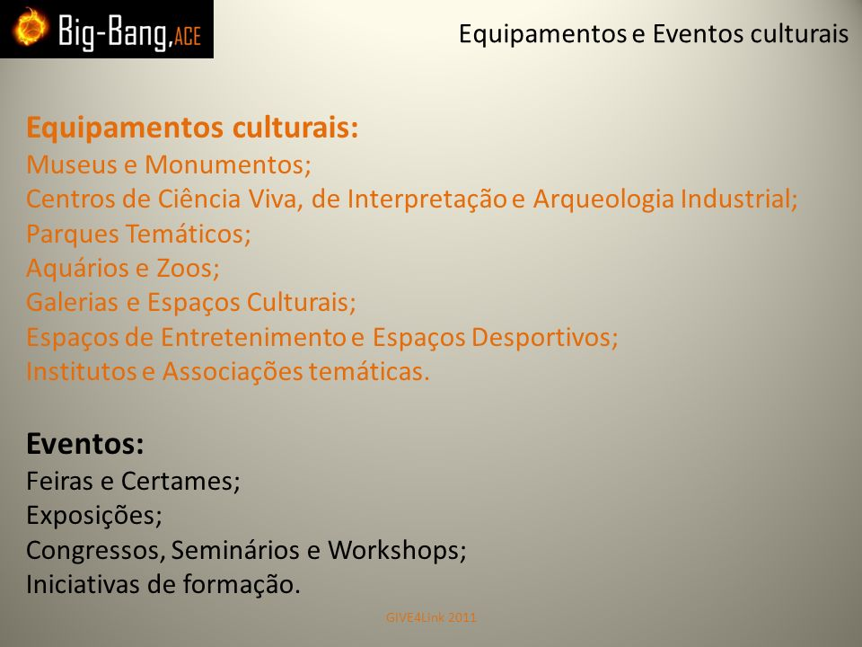 Equipamentos culturais: