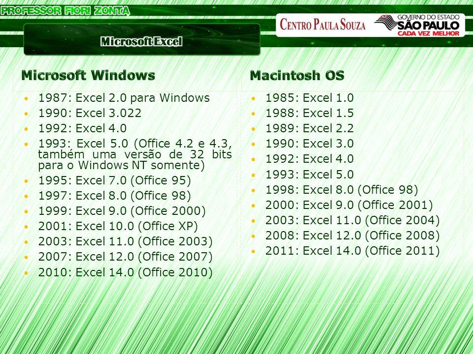 Microsoft Windows Macintosh OS 1987: Excel 2.0 para Windows