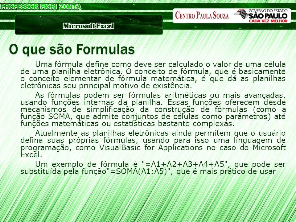 O que são Formulas