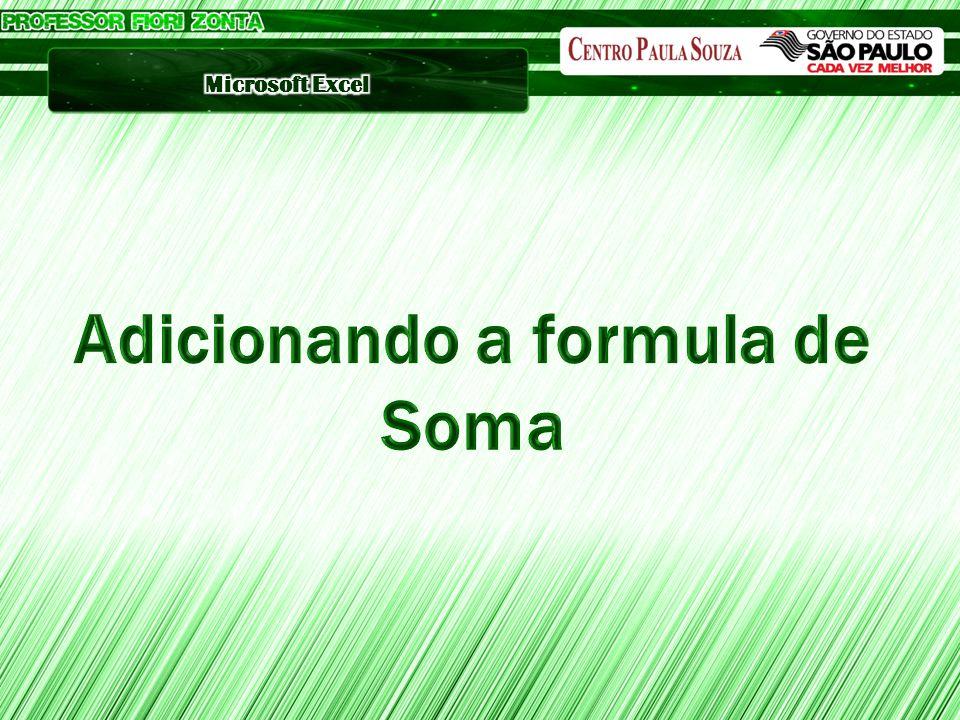 Adicionando a formula de Soma