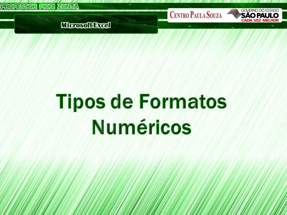Tipos de Formatos Numéricos