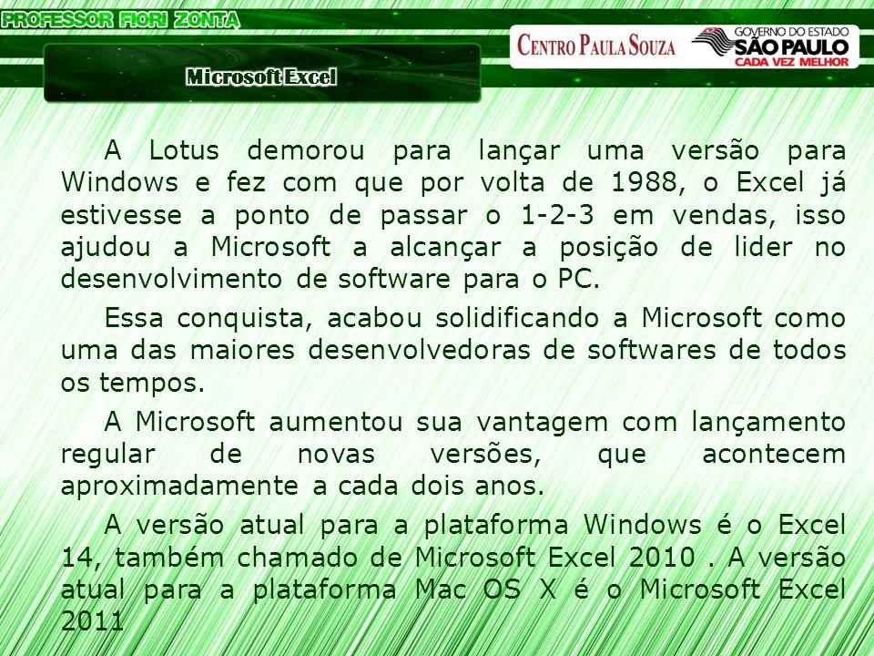 A Lotus demorou para lançar uma versão para Windows e fez com que por volta de 1988, o Excel já estivesse a ponto de passar o 1-2-3 em vendas, isso ajudou a Microsoft a alcançar a posição de lider no desenvolvimento de software para o PC.