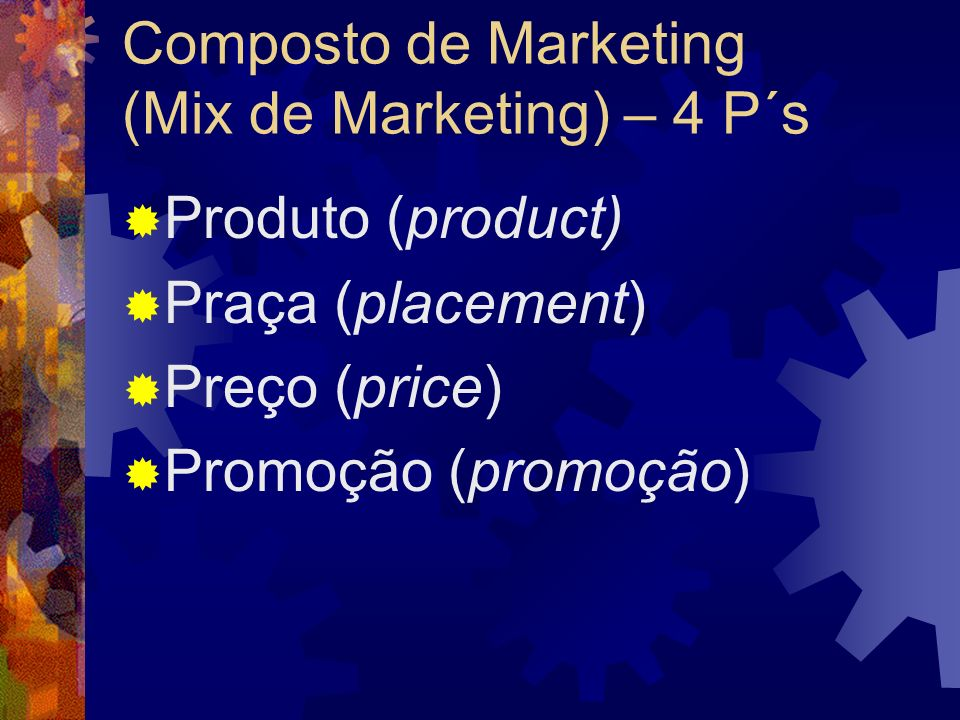 Composto de Marketing (Mix de Marketing) – 4 P´s
