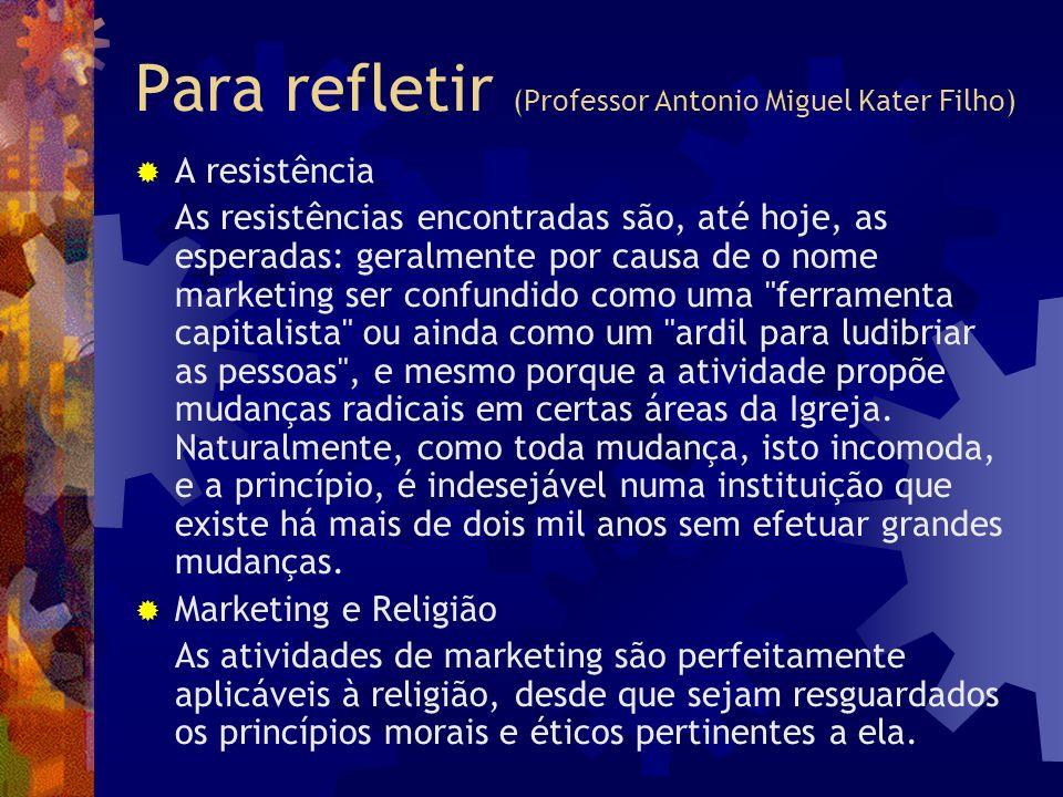 Para refletir (Professor Antonio Miguel Kater Filho)