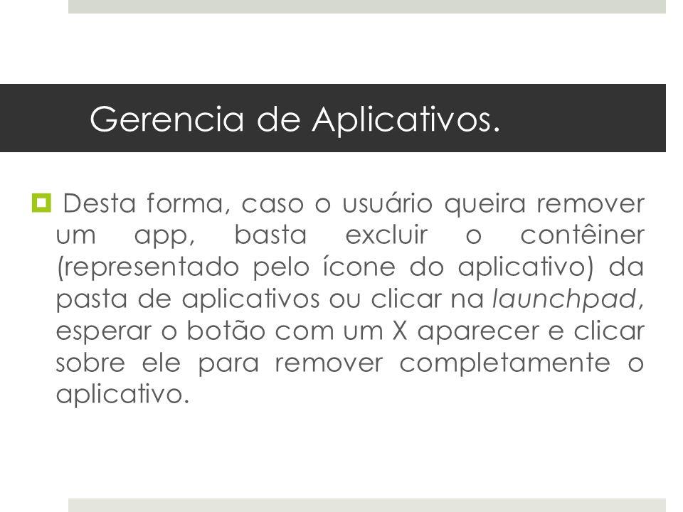 Gerencia de Aplicativos.