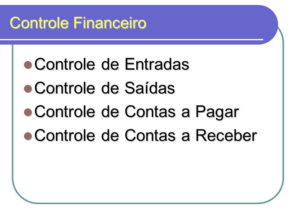 Controle de Contas a Pagar Controle de Contas a Receber