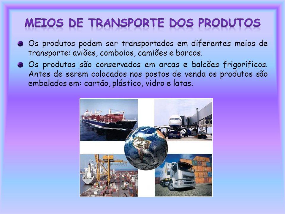 Meios de Transporte dos Produtos