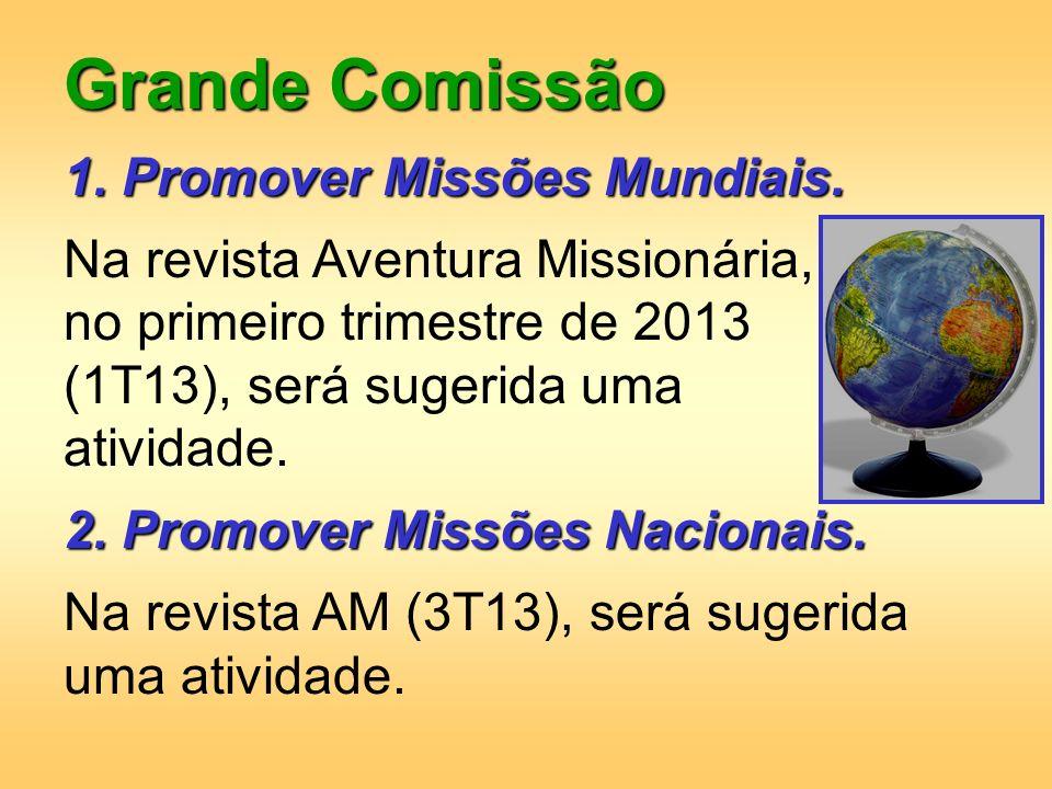 Grande Comissão 1. Promover Missões Mundiais.