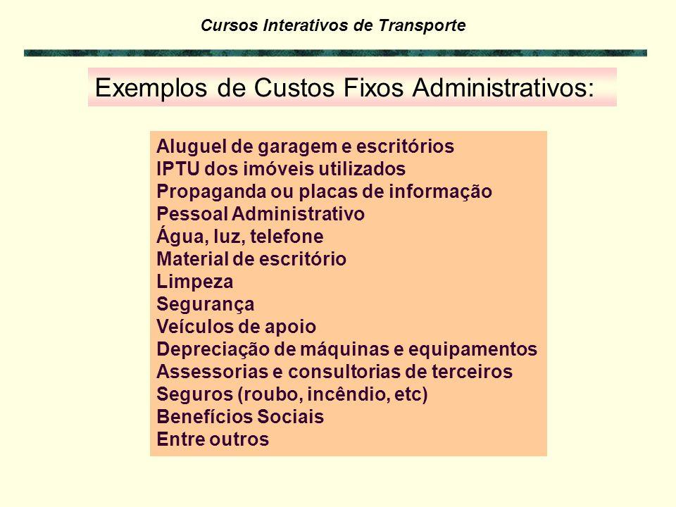 Exemplos de Custos Fixos Administrativos:
