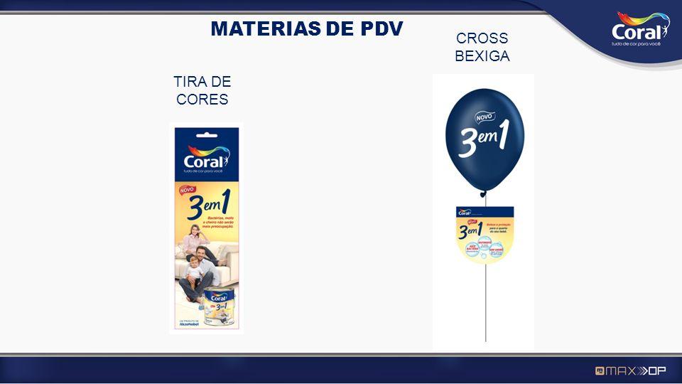 MATERIAS DE PDV CROSS BEXIGA TIRA DE CORES