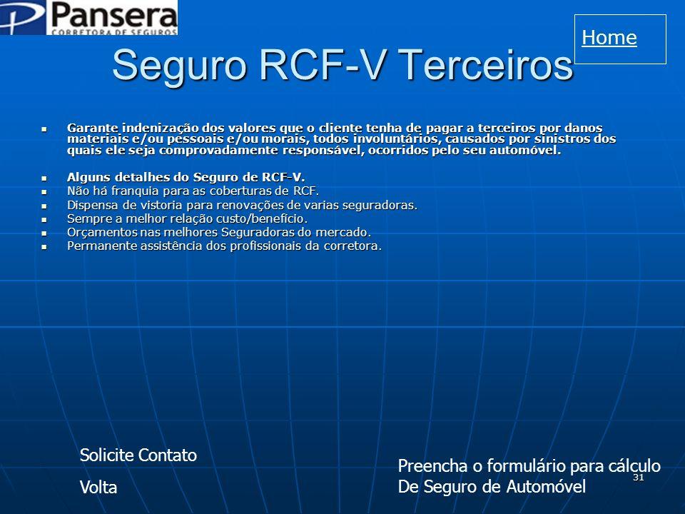 Seguro RCF-V Terceiros