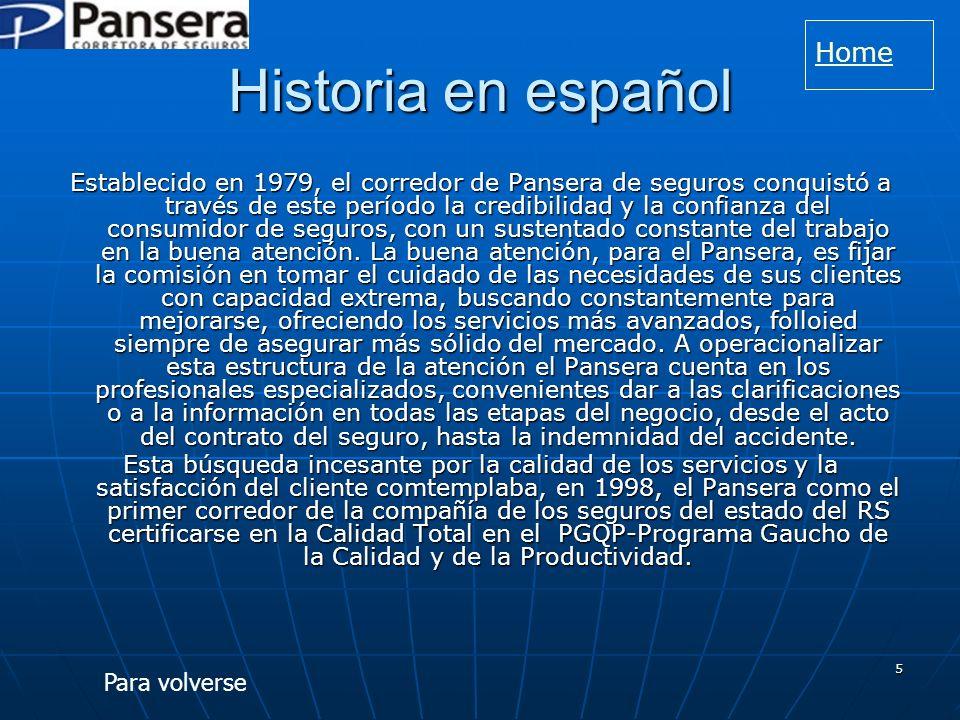 Historia en español Home