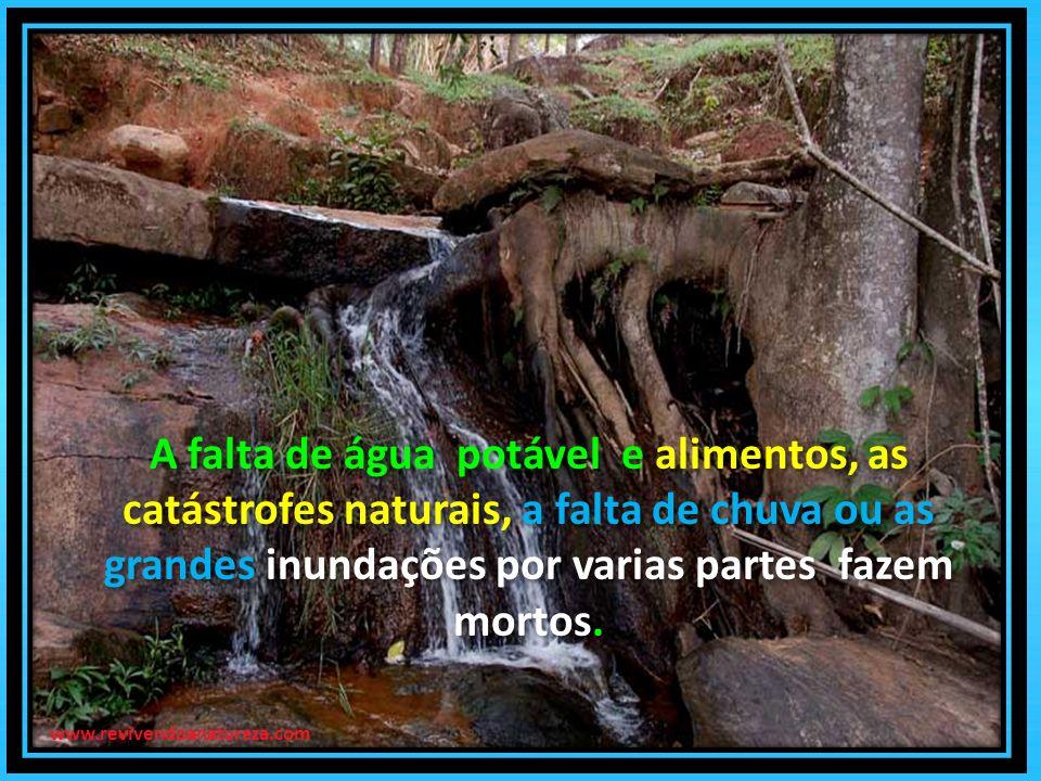 A falta de água potável e alimentos, as catástrofes naturais, a falta de chuva ou as grandes inundações por varias partes fazem mortos.