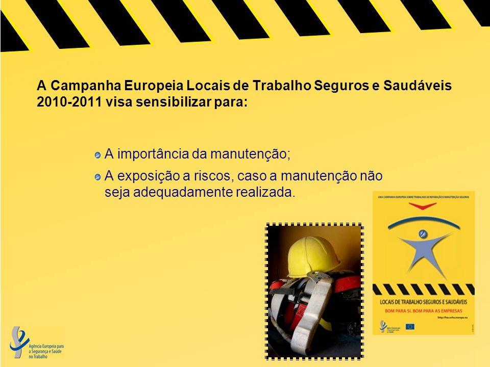 A Campanha Europeia Locais de Trabalho Seguros e Saudáveis 2010-2011 visa sensibilizar para: