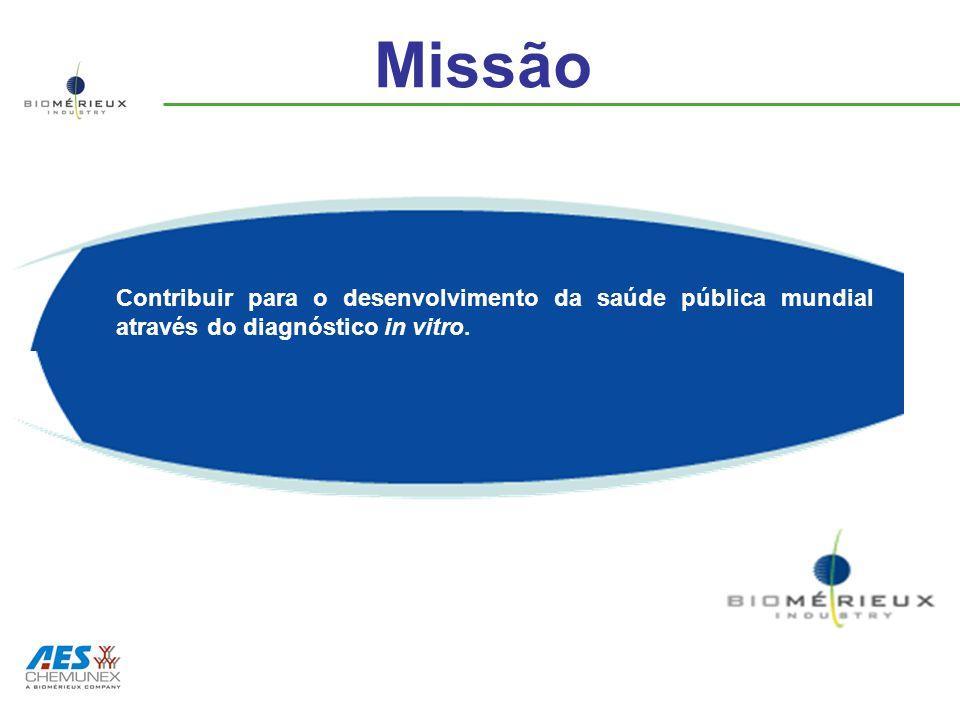 Missão Contribuir para o desenvolvimento da saúde pública mundial através do diagnóstico in vitro.