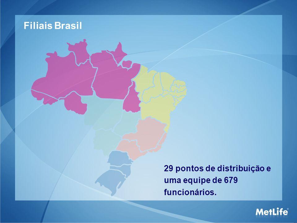 Filiais Brasil 29 pontos de distribuição e uma equipe de 679 funcionários. 11