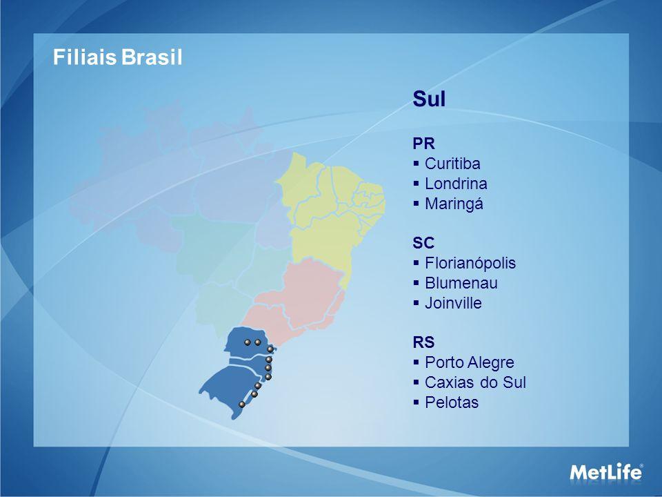 Filiais Brasil Sul PR Curitiba Londrina Maringá SC Florianópolis