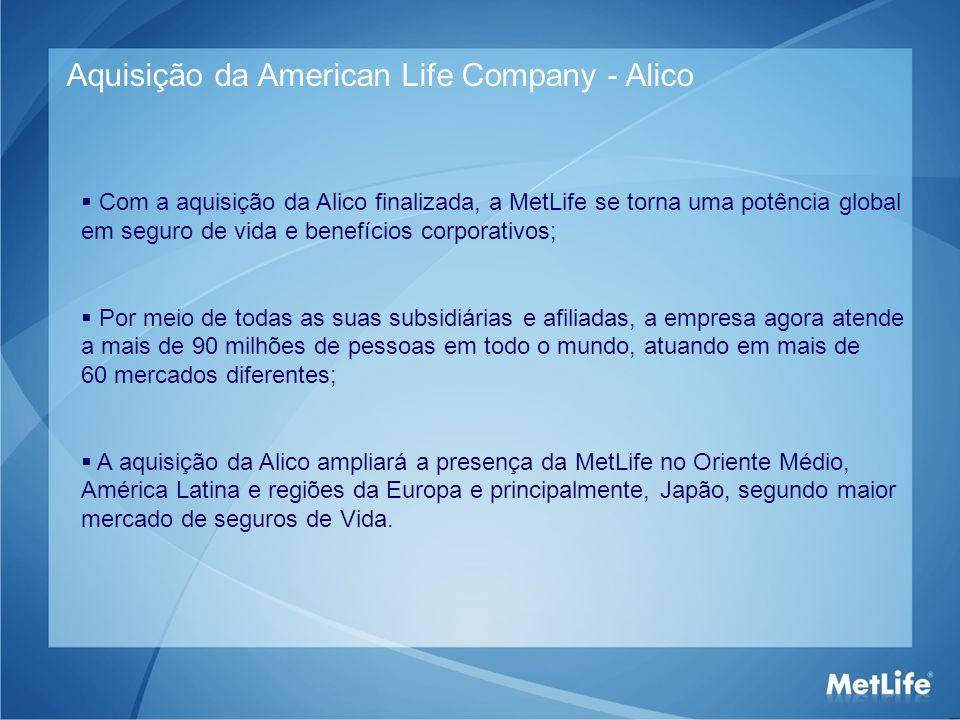 Aquisição da American Life Company - Alico