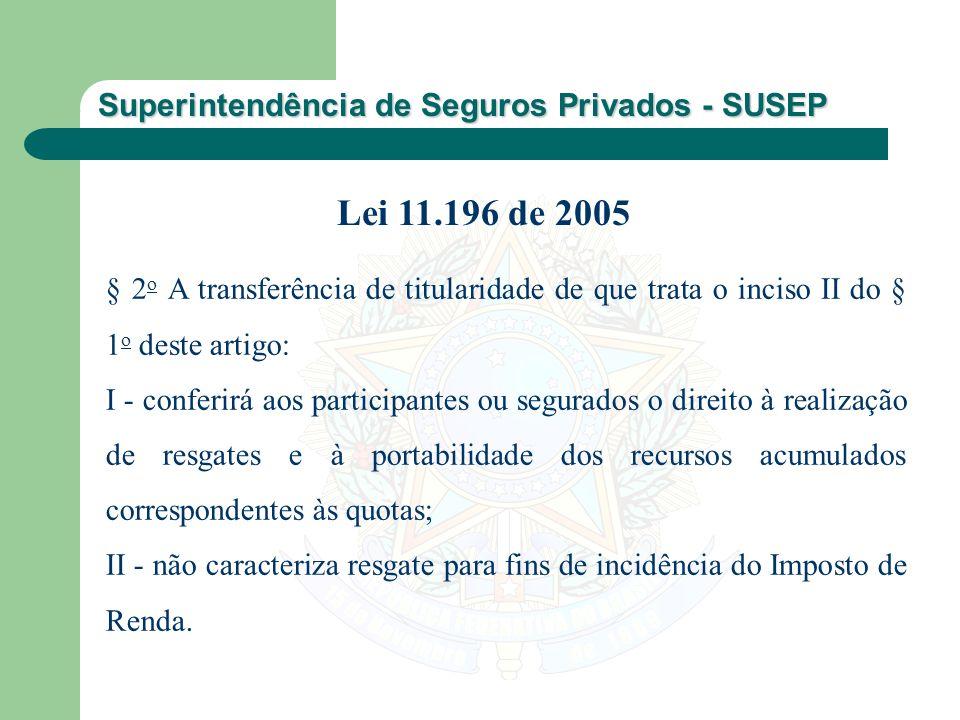 Lei 11.196 de 2005 § 2o A transferência de titularidade de que trata o inciso II do § 1o deste artigo: