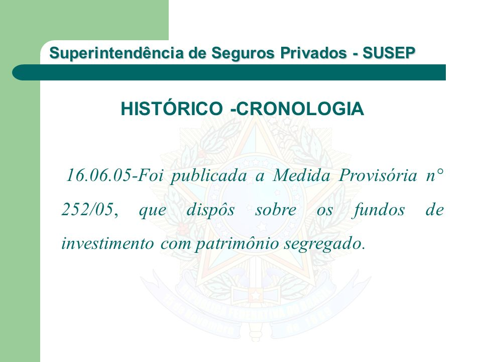 HISTÓRICO -CRONOLOGIA