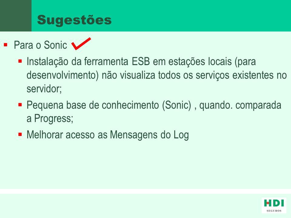Sugestões Para o Sonic.