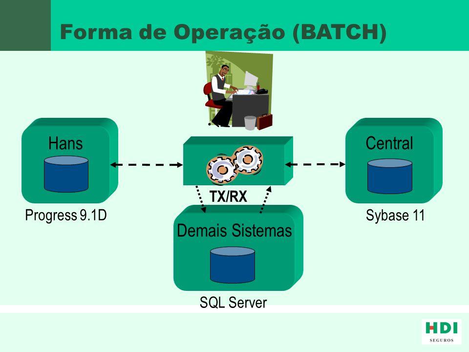 Forma de Operação (BATCH)